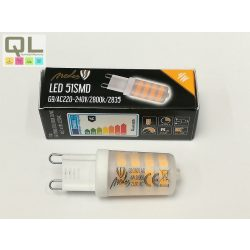 LED G9 4W meleg fehér 320lm ZLS614C