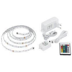 LED szalag szett 3m távirányítóval RGB színváltós fénysor 13532