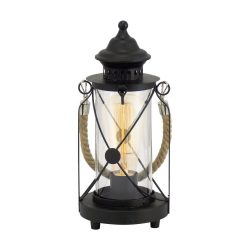 BRADFORD Asztali lámpa fekete E27 49283