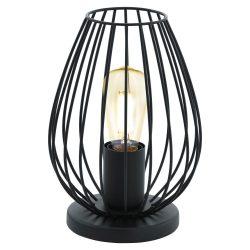 NEWTOWN Asztali lámpa fekete E27 49481