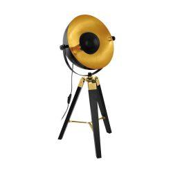 COVALEDA Asztali lámpa fekete E27 49617