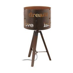 COLDINGHAM Asztali lámpa rozsdaszínű E27 49792