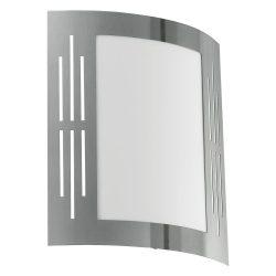 CITY Kültéri fali lámpa acél E27 82309