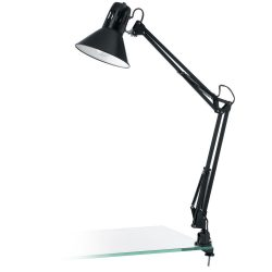 FIRMO Csiptetős, satus lámpa fekete E27 90873