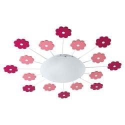 EGLO mennyezeti lámpa VIKI 1 Gyermek rózsaszín E27 92147