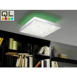 CARDITO Mennyezeti lámpa króm LED-RGB távkapcsolható 92781