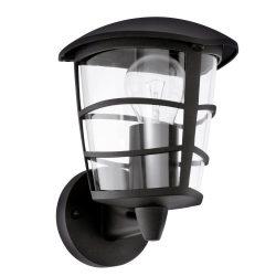 ALORIA Kültéri fali lámpa fekete E27 93097