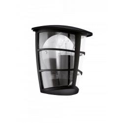 ALORIA Kültéri fali lámpa fekete E27 93407
