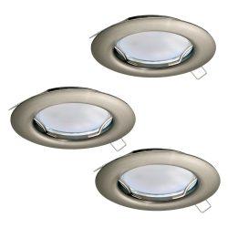 PENETO Süllyesztett, beépíthető lámpa nikkel LED 94237