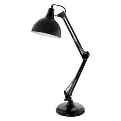 BORGILLIO Asztali lámpa fekete E27 94697