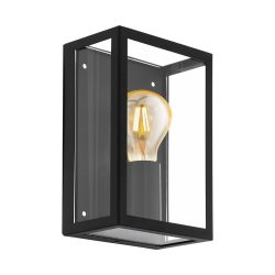 EGLO ALAMONTE Kültéri lámpa, fali, fekete E27 94831