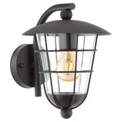 PULFERO Kültéri fali lámpa fekete E27 94841