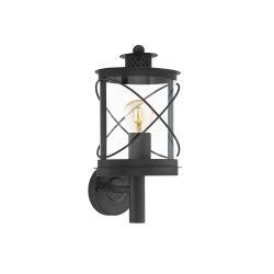 HILBURN Kültéri fali lámpa fekete E27 94842