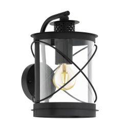 HILBURN Kültéri fali lámpa fekete E27 94843