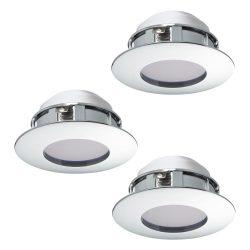 PINEDA 3db/csomag Süllyesztett, beépíthető lámpa króm 95815