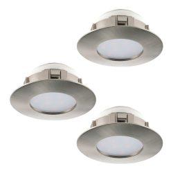 PINEDA 3db/csomag Süllyesztett, beépíthető lámpa nikkel 95816