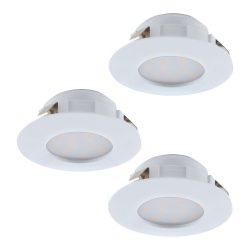 PINEDA 3db/csomag Süllyesztett, beépíthető lámpa fehér 95821