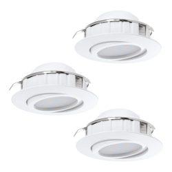 PINEDA 3db/csomag Süllyesztett, beépíthető lámpa fehér 95857