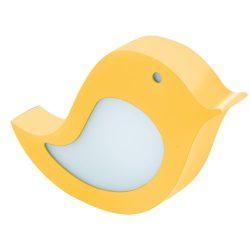 EGLO gyermeklámpa SPARINO Fali lámpa sárga LED 96854