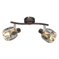 GLOBO spot lámpa GLOBO INDIANA fali szpot 2x40W E14 bonz-füst színű bura 54357-2