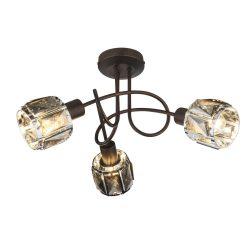 GLOBO spot lámpa GLOBO INDIANA fali szpot 3x40W E14 bonz-füst színű bura 54357-3