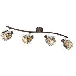 GLOBO spot lámpa GLOBO INDIANA fali szpot 4x40W E14 bonz-füst színű bura 54357-4