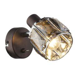 GLOBO spot lámpa GLOBO INDIANA fali  40W E14 bonz szín füst színű bura kapcsolóval 54357-1