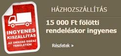 15 000 Ft. felett ingyen házhozszállítás