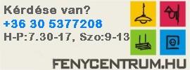 Elérhetőségünk: +36 30 5377208, Hétfő-Péntek 7.30-17.00, Szombat 9.00-13.00