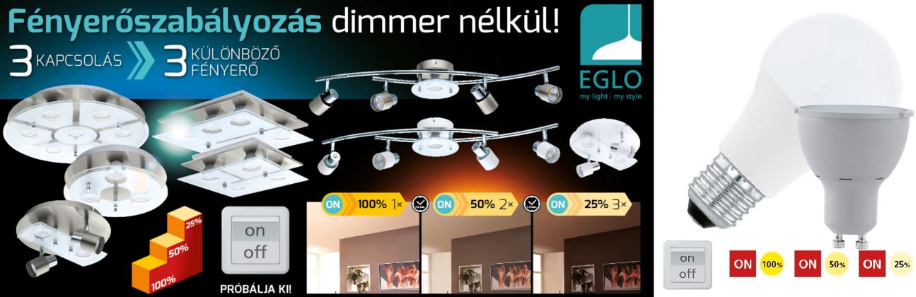 Eglo stepdimming led fényforrások ( dimmerelhető LED fényforrások )